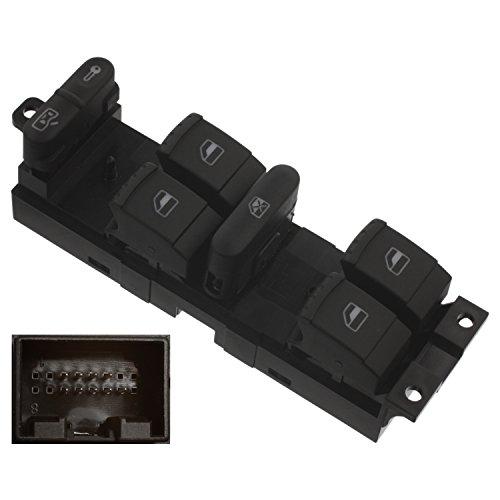 febi bilstein 37644 Schaltereinheit für Fensterheber mit Sicherheitsschalter, Fahrerseite , 1 Stück