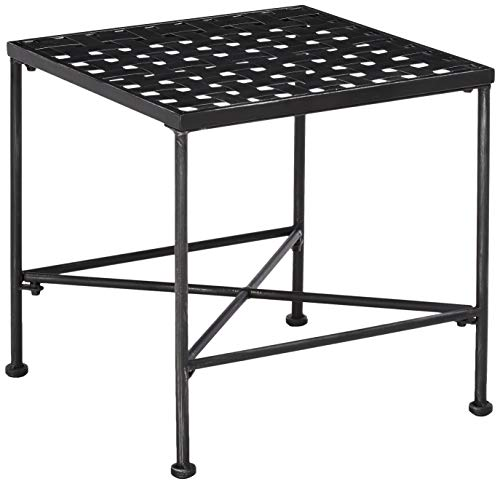 Christopher Knight Home Petra Iron End Table, Black Brush Silver