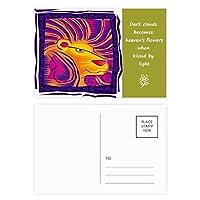 星座のレオmexicon彫刻 詩のポストカードセットサンクスカード郵送側20個