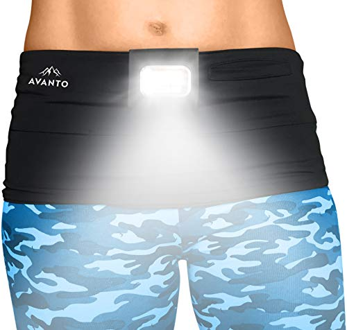 AVANTO Clip On Running Light PRO, Addon to Reflective Running Gear for Runners, USB Rechargeable LED Light, Small Lightweight, Multi-use as a Camping Light, Running Lights for Runners and Joggers