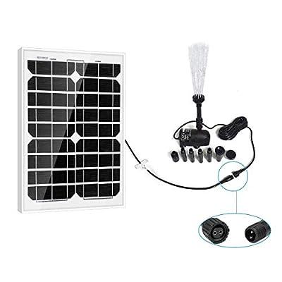 PowerEZ Solar Water Pump Kit-410GPH+Submersible Pump and 20 Watt Mono Solar Panel for Sun Powered Fountain, Waterfall, Pond Aeration, Hydroponics, Aquarium, Aquaculture (No Battery Backup)