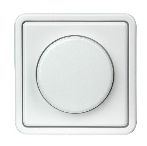Kopp Dimmer mit Dreh-Ausschalter (Phasenanschnitt), Komplettgerät, arktisweiß, 809702013