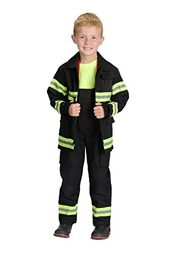 Aeromax Jr. LOS ANGELES Fire Fighter Suit, Black, Size 8/10. The best #1 - Award Winning firefighter suit. The most realistic bunker gear for kids everywhere. Just like the real gear!