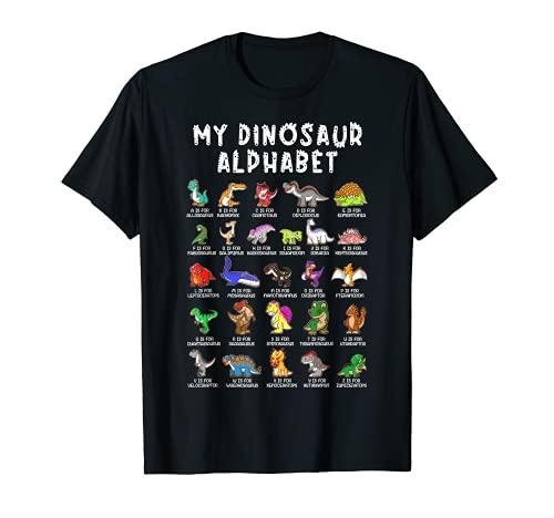 Types Of Dinosaurs Alphabet Dino Identification T-Shirt