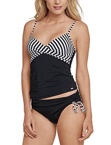 Schiesser Damen Mix & Match Tankini Top Schwimmshirt, Schwarz (Schwarz 000), 38 (Herstellergröße: 038A)