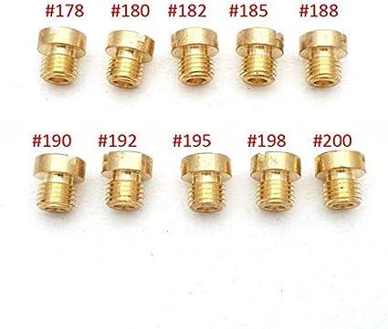 Color : 110-132 M6 Caracter/ísticas estables Pack de 10pcs Carburador Chicl/é M6 M5 Tema 6 mm 5 mm de tama/ño DellOrto BGM Motoforce carburador inyector del inyector 50-200 Materiales de Calidad