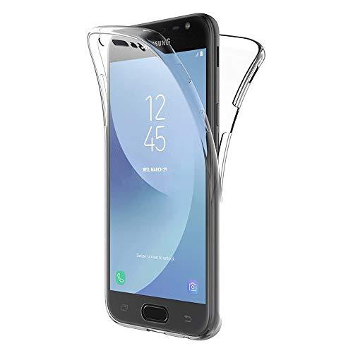 NewTop Cover per Samsung Galaxy J2 2018/J3 2016/J3 2017, Custodia Crystal Case in TPU Silicone Gel PC Protezione 360° Fronte Retro Completa (per J3 2017)