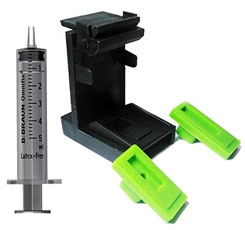 ANG for HP Ink Suction Tool Refill KIT for Printer Cartridge Cleaning 803 805 662 680 702 703 704 801 802 818 850 851 854 857 860 861 900 901 etc. for Both Black and Color Cartridge with Syringe