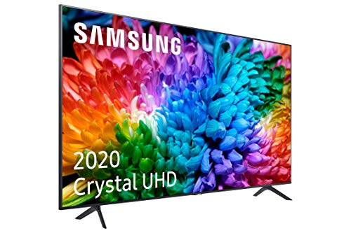 Samsung Crystal UHD 2020 43TU7105- Smart TV de 43' con Resolución 4K, HDR 10+, Crystal Display, Procesador 4K, PurColor, Sonido Inteligente, Función One Remote Control y Compatible Asistentes de Voz