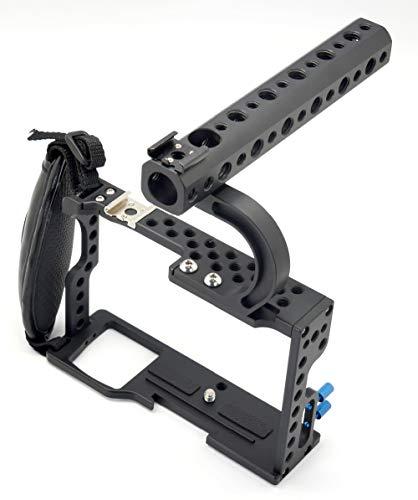 XT-XINTE professionele camerakooi voor Sony A6000 spiegelloze systeemcamera metalen beschermhoes met handgreepkit