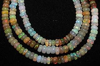 Jewel Beads Natural Beautiful jewellery Ethiopian Opal Beads 24 Pcs Nice Flashy Quality 4-7mm Opal Rondelle Beads Loose Semiprecious Gemstones OpalCode:- JBB-46288