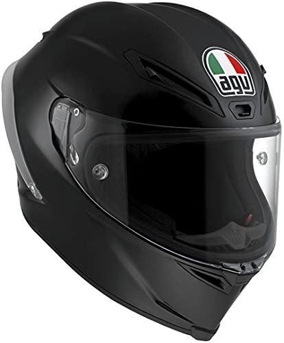 AGV Casco Moto Corsa R E2205 Solid PLK, Matt Black, XL
