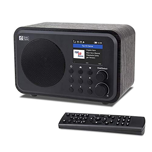 """Ocean Digital WiFi Internet Radios WR-336N Portable Digital Radio with Rechargeable Battery Bluetooth Receiver with 2.4"""" Color Display, 4 Preset Buttons, Support UPnP & DLNA-Black"""