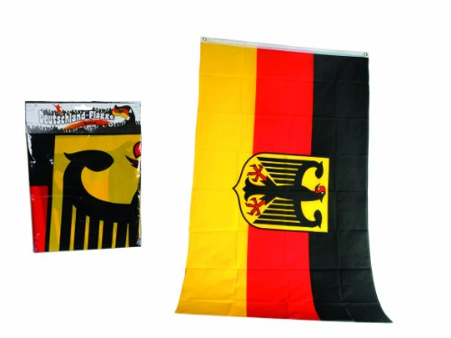 Out of the blue Deutschlandflagge,Deutschlandfahne mit Bundesadler für Fahnenmast,ca. 90 x 150 cm