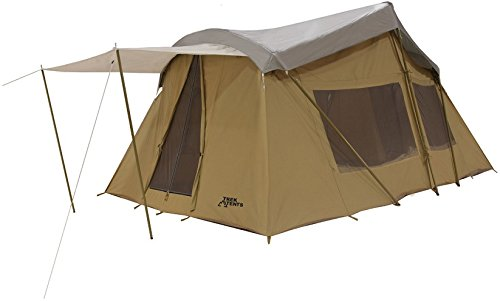 Trek Four Season, Cotton Canvas Tent, 10x16 (Sleeps 9) Full Rain FLY