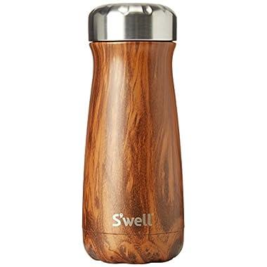 S'well Stainless Steel Travel Mug, 20 oz, Teakwood