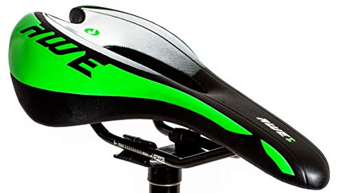 AWE Adulto MTB Race Saddle Uomo Verde Nero binari Cromo