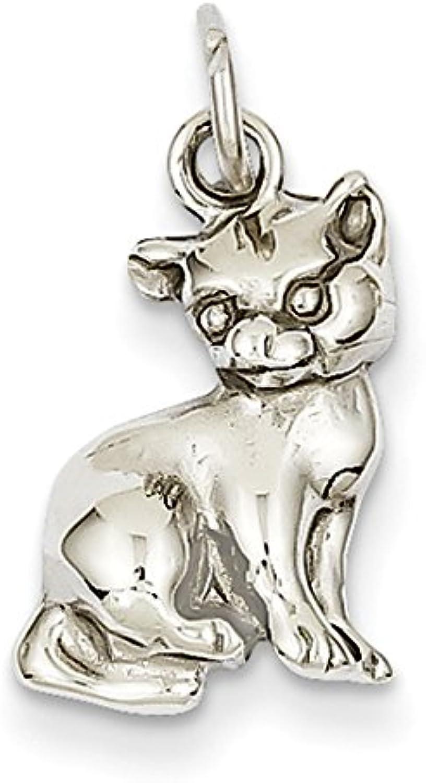 Diamond2Deal 14k White gold Cat Pendant