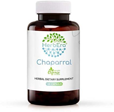 Chaparral 120 Capsules 500 Super sale period limited Organic mg triden Larrea Max 79% OFF