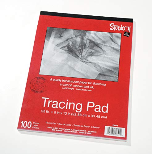 Price comparison product image Darice 9x12 Artists Tracing Paper,  100 Sheets Translucent Tracing Paper for Pencil,  Marker and Ink,  Lightweight,  Medium Surface (97490-3)