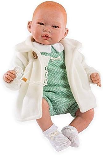 Puppe Guca - Reborn Andrew, Größer Anzug mit Mantel, Mehrfarbig (10037)