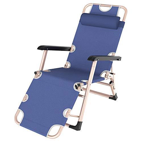 Axdwfd Chaise longue Chaise longue, chaise pliante Home Lazy Lunch Break Chair Sofa Sofa Balcon Nap Lounge Chair Leisure Chaise simple 86 * 47 * 89cm