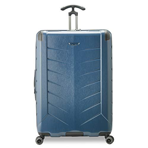 Traveler's Choice Silverwood II Hardside Expandable Spinner Luggage, Navy, 26' Checked