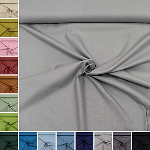 MAGAM-Stoffe Dylan weicher Canvas Baumwollstoff Kleidung Polsterstoff Meterware 50cm (13. Hellgrau)