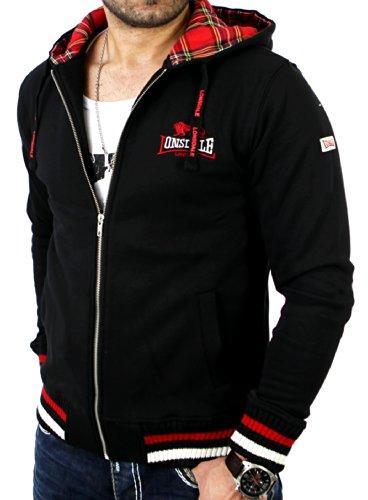 Lonsdale Lancaster Sweat-shirt à Capuche Droit Homme Noir L