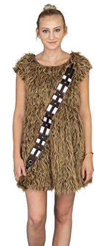 Star Wars I Am Furry Chewbacca Chewie Juniors disfraz de skater marrón...