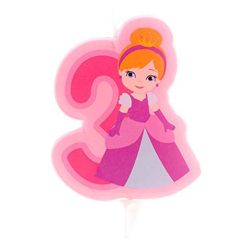 Generique - Bougie d'anniversaire Princesse Chiffre 3
