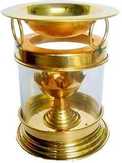 SataanReaper PresentsBrass Camphor Diffiuser - Diya Oil Lamp For Home - Aroma Diffuser#SR-0054