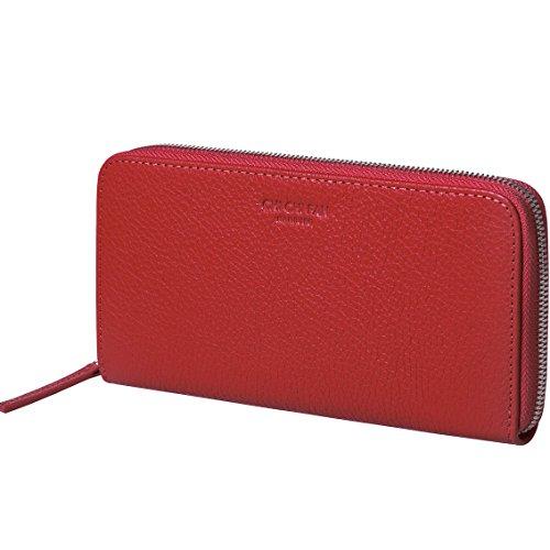 CHI CHI FAN Portemonnaie Classic - Rot   Große Leder Geldbörse aus genarbtem Rindsleder   Top Qualität und stylish-klares Design treffen auf maximale Funktion und Sicherheit   10x19x2,5cm