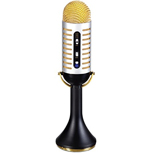 FAO Schwarz 1003436 Bluetooth Vintage Microphone with Built-in Speaker, Black, Pack of 1