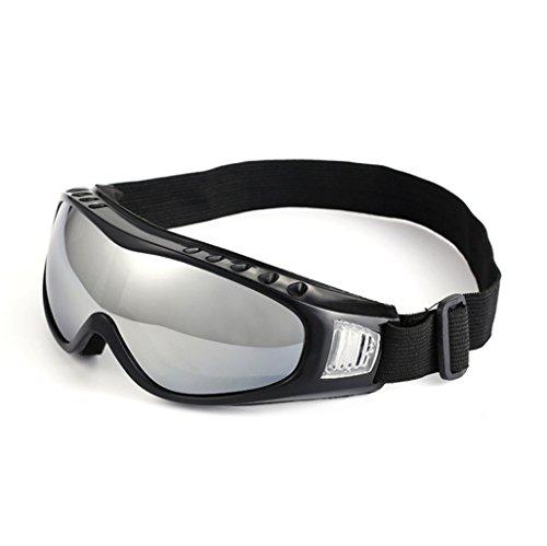 Goggle bril, skibril, motorrijden, winddicht, bescherming tegen vervagen zilver.