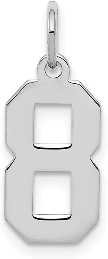 Charm Pendant White Sterling Silver 8 4 20 Sma Challenge the OFFicial mail order lowest price Rhodium-Plated mm