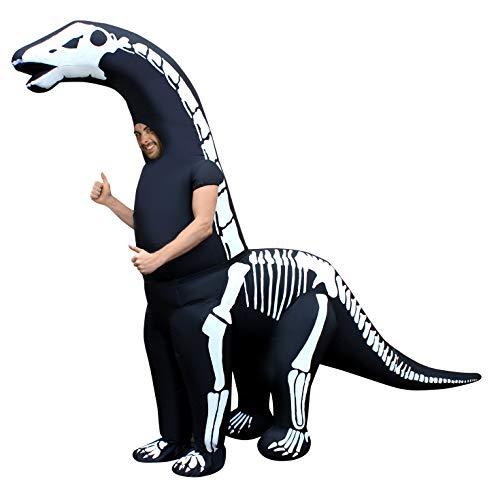 Morph Mcgidis gonfiabile costume, uomo, Diplodocus scheletro adulto, taglia unica