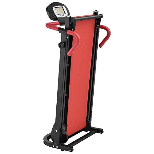 41UyeEzbz6L - [in.tec] Cinta de Correr [roja] mecánica (NO automático) con Pantalla LCD Plegable Entrenamiento en casa Fitness