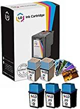 LD Remanufactured Ink Cartridge Replacements for HP 20 & HP 49 (3 Black, 2 Color, 5-Pack)