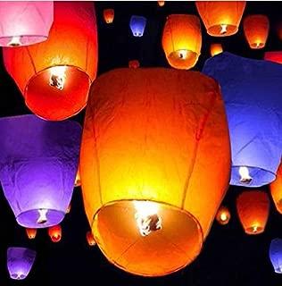 50 PCS Sky Lanterns Wishing Lantern - Assorted Color