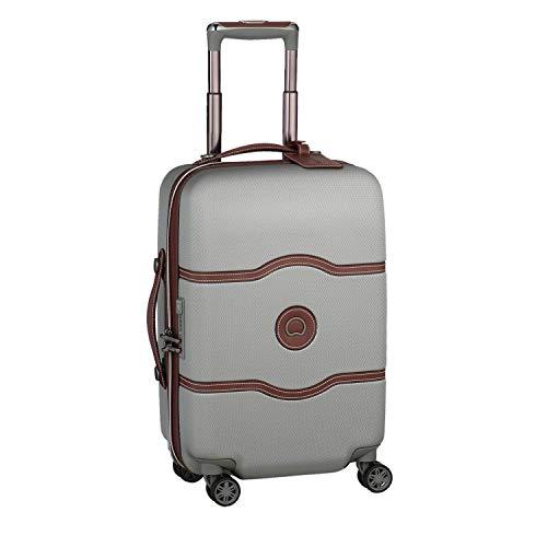 DELSEY(デルセー) スーツケース 機内持ち込み sサイズ おしゃれ キャリーケース かわいい mサイズ/lサイズ 軽量 大容量 シャトレ CHATELET AIR 10年間保証 ストッパー機能なし(42L&グレー)
