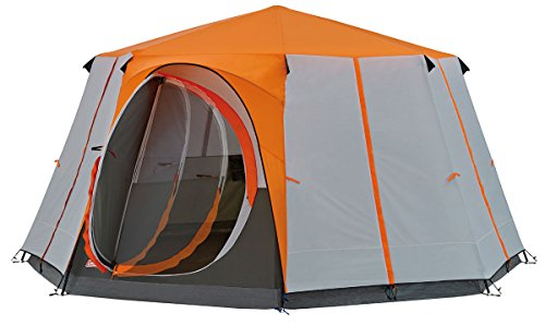 Coleman Tent Octagon, 6 to 8 Man Festival Dome Tent, Waterproof Family Camping Tent with Sewn-in...