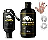 Liquid Chalk grip - Professional Hand Grip, Combo Kit 8.3 oz + 1.7 oz Travel Clip & Rings massage, liquid chalk for weight lifting,For Gymnastics, Rock Climbing, ninja warrior, golf, Training & more.