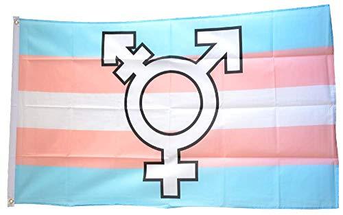 Flaggenfritze® Flagge/Fahne Transgender Pride Symbol - 90 x 150 cm