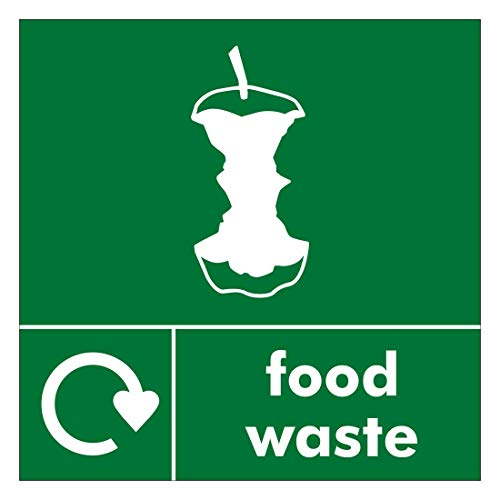 Recycle Sign Size 120mm x 120mm self adhesive vinyl Ideal for use on bins for home owners and businesses (Food Waste)