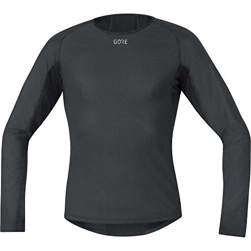 GORE WEAR Winddichtes Herren Thermo-Unterzieh-Shirt, Gore M Windstopper Base Layer Thermo L/S Shirt, L, Schwarz, 100324