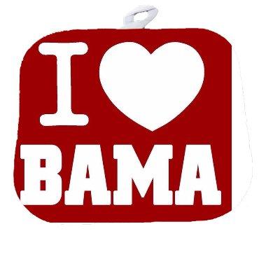 Debbies Designs I Love Bama Alabama Football Decorative Pot Holder