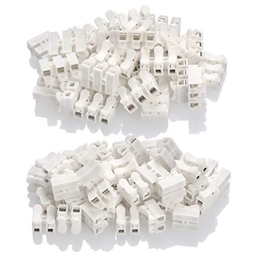 Morsettiera Terminale a Molla Rapida CH2 CH3 100PCS - BUYGOO 250V/6A Terminale Connettore Molla Per Connettore Rapido Morsetto Rapido a Molla per Cablaggio Elettrico e Alimentazione Illuminazione
