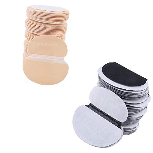 Colcolo 100 Paquetes de Almohadillas para El Sudor en Las Axilas Protectores de Tela Desechables para Las Axilas