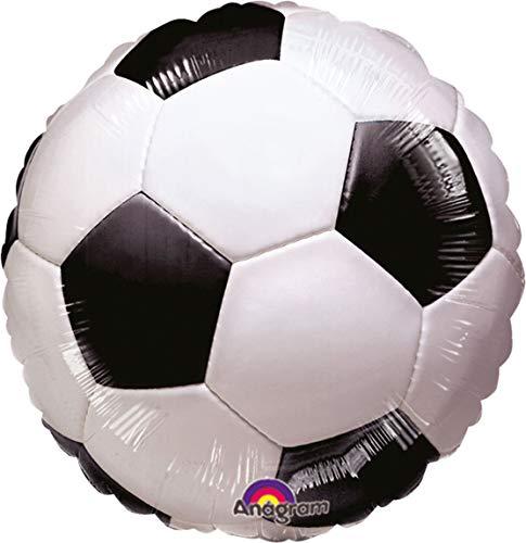 amscan 117040 01 Folienballon Championship Soccer, Schwarz, Weiß